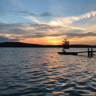 Stephanie's Lake Harding sunset